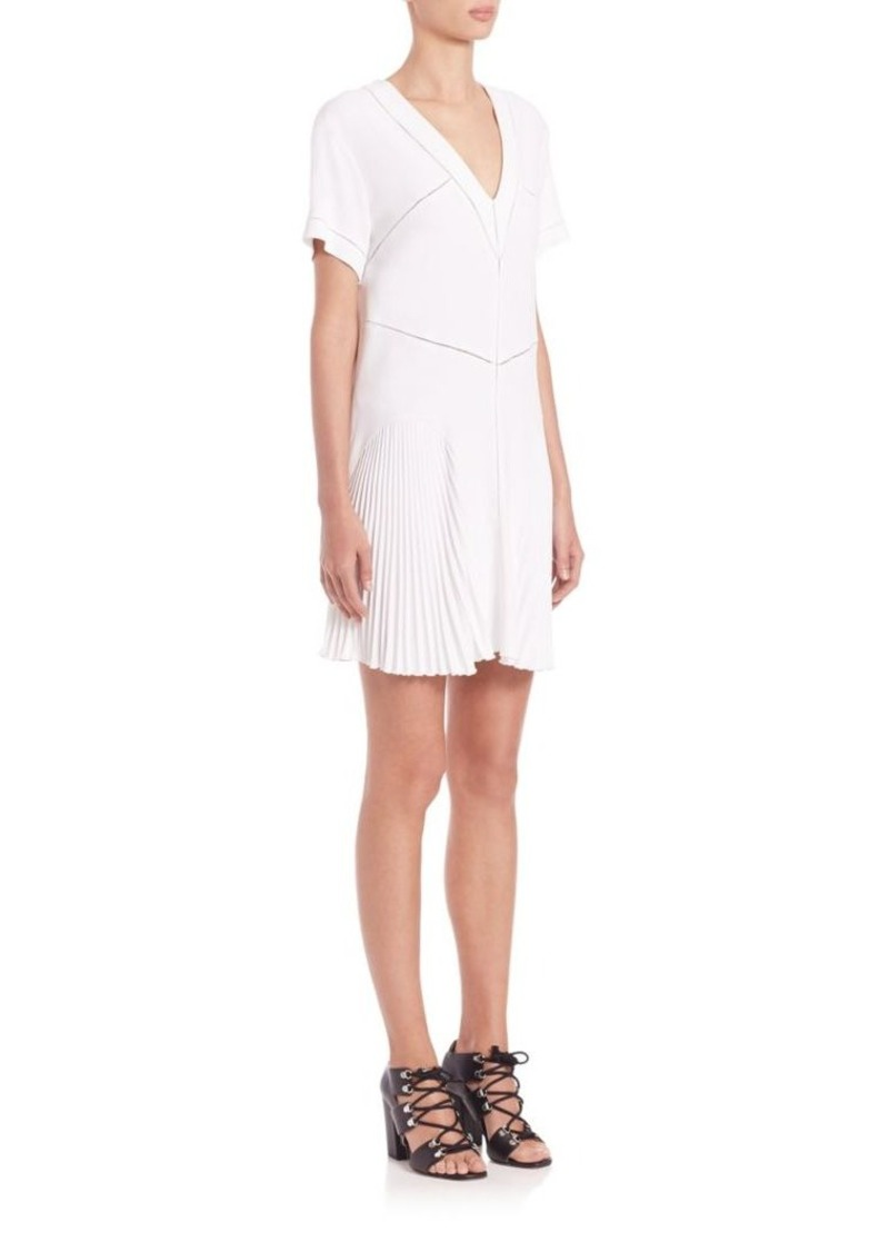 Christopher Kane Pleated V-Neck Dress