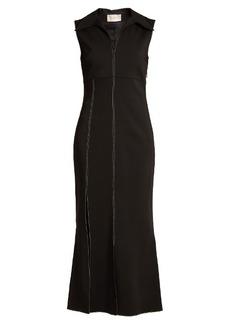 Christopher Kane Point-collar contrast-stitch cady dress