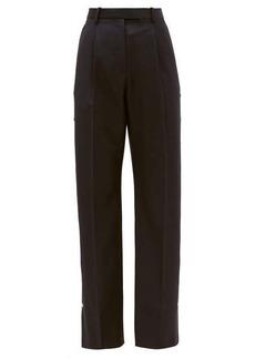 Christopher Kane Press-stud wool-twill trousers