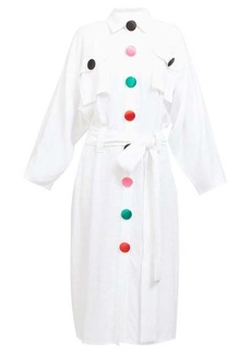 Christopher Kane Rainbow-button poplin shirtdress