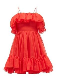 Christopher Kane Ruffled silk-organza mini dress