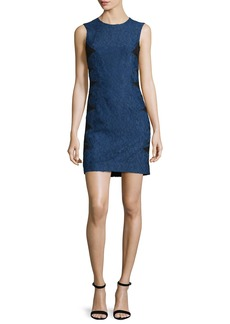 Christopher Kane Sleeveless Lace Dress w/Contrast Reverse