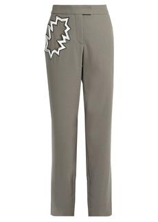 Christopher Kane Smash-pocket wool-crepe trousers
