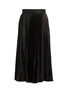 Christopher Kane Stud-embellished pleated midi skirt