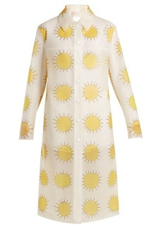 Christopher Kane Sun-print frosted rubberised coat