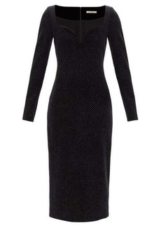 Christopher Kane Sweetheart-neckline glittered velvet dress