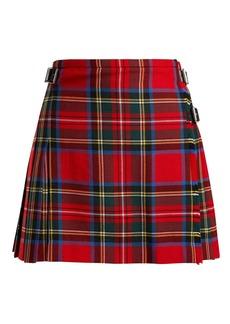 Christopher Kane Tartan wool mini skirt