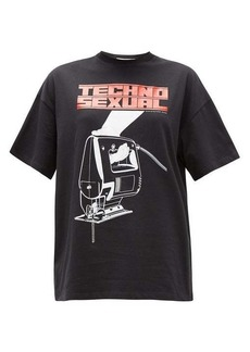 Christopher Kane Techno Sexual-print cotton T-shirt