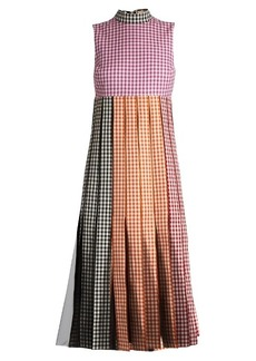 Christopher Kane Tulle-insert gingham cotton dress