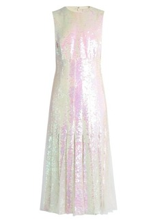 Christopher Kane Tulle-insert sequinned midi dress