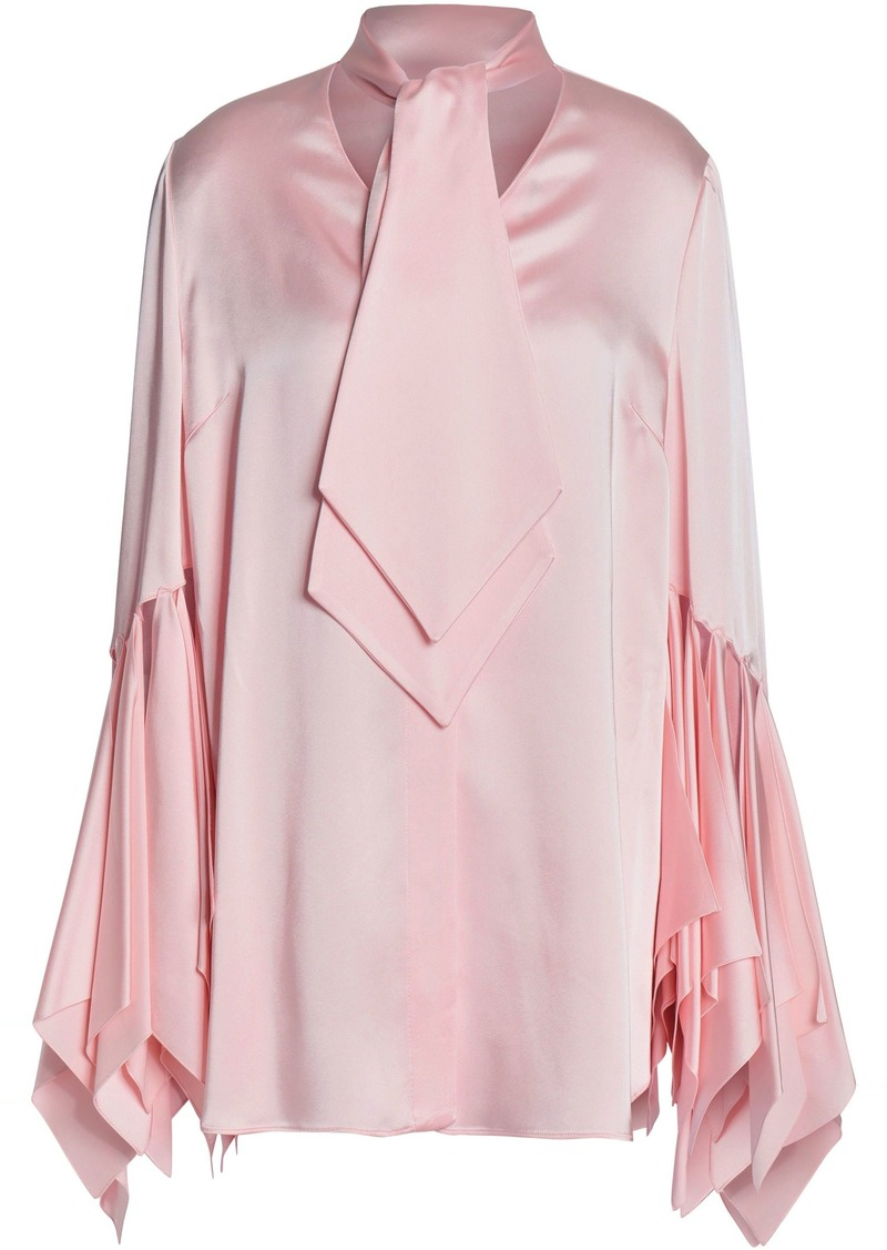 Christopher Kane Woman Appliquéd Satin Blouse Baby Pink