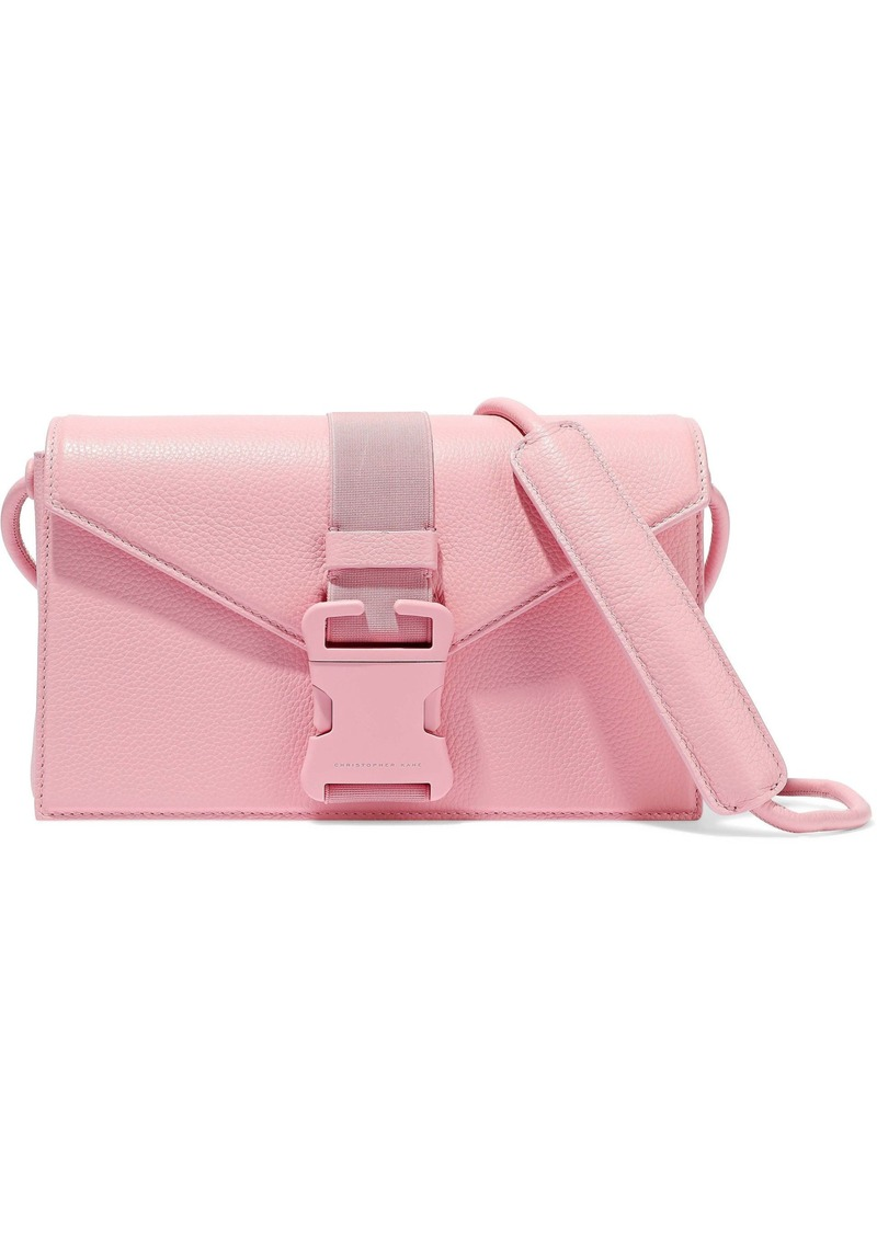 Christopher Kane Woman Devine Pebbled-leather Shoulder Bag Baby Pink