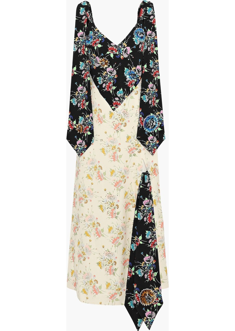 Christopher Kane Woman Embellished Floral-print Crepe Maxi Dress Multicolor
