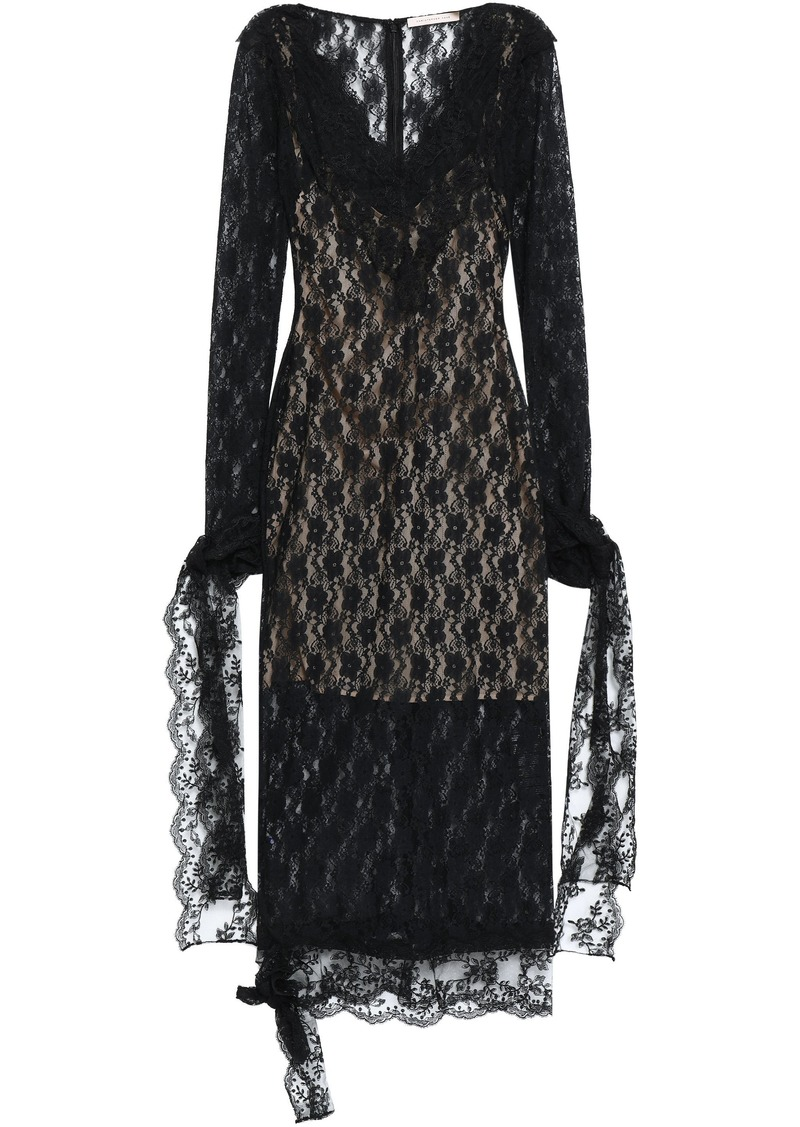 Christopher Kane Woman Lace Midi Dress Black