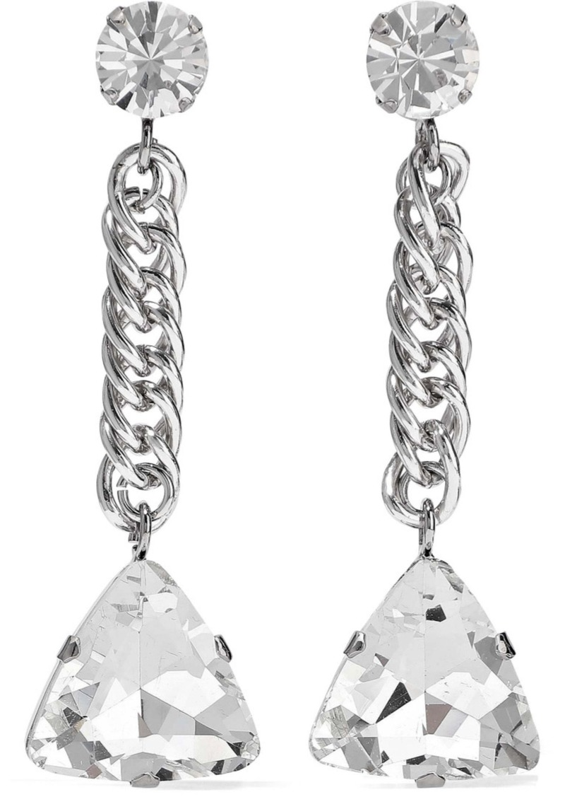 Christopher Kane Woman Silver-tone Crystal Earrings Silver