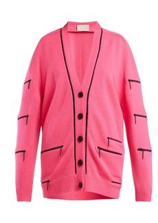 Christopher Kane Zip-detail V-neck cashmere cardigan