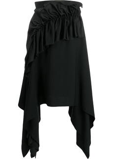 Christopher Kane crepe and satin frill skirt