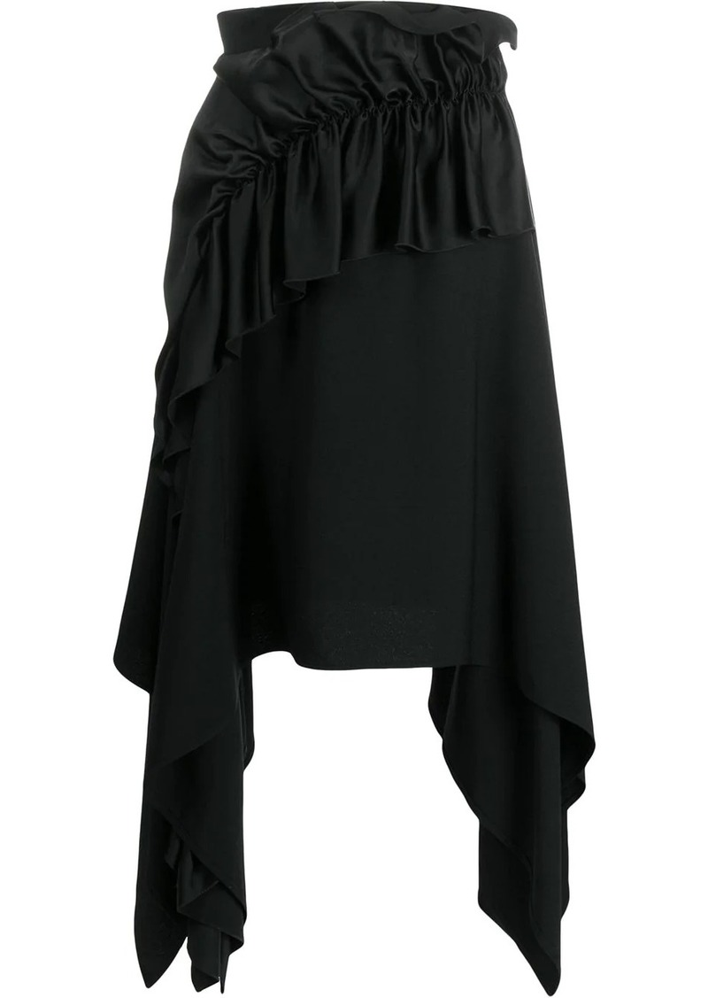 Christopher Kane crepe and satin frill skirt