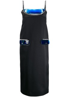 Christopher Kane crystal and gel satin dress