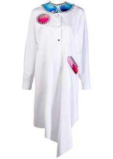 Christopher Kane crystal and gel shirt dress