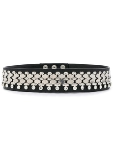 Christopher Kane crystal chain embellished belt