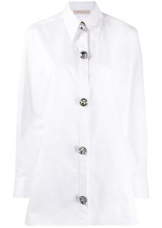 Christopher Kane crystal cotton shirt