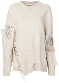 Christopher Kane crystal cut out knit jumper
