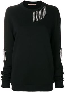Christopher Kane crystal cut out sleeve sweatshirt