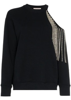 Christopher Kane crystal cut-out sweatshirt