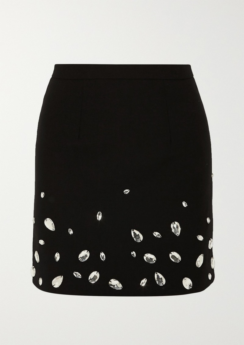 Christopher Kane Crystal-embellished Cady Mini Skirt