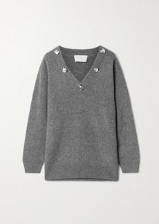 Christopher Kane Crystal-embellished Cashmere And Silk-blend Sweater