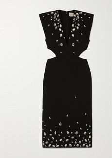 Christopher Kane Crystal-embellished Cutout Cady Midi Dress