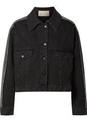 Christopher Kane Crystal-embellished Denim Jacket