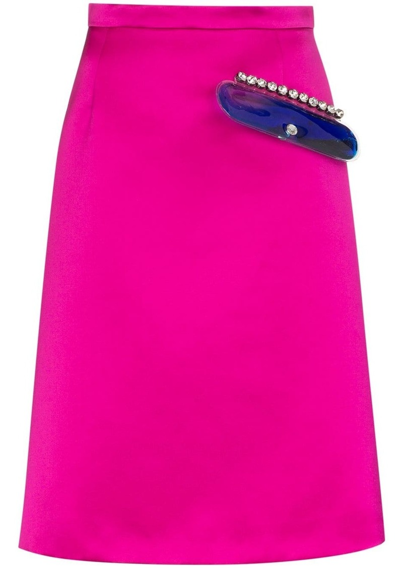 Christopher Kane crystal-embellished midi skirt