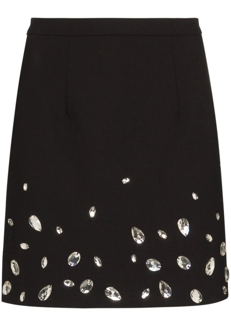 Christopher Kane crystal-embellished mini skirt