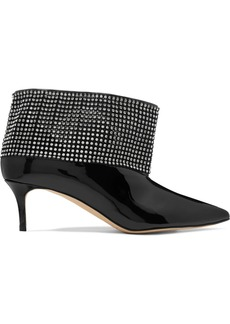 Christopher Kane Crystal-embellished Patent-leather Ankle Boots