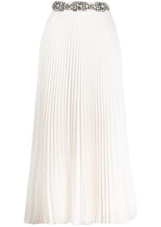 Christopher Kane crystal-embellished pleated skirt