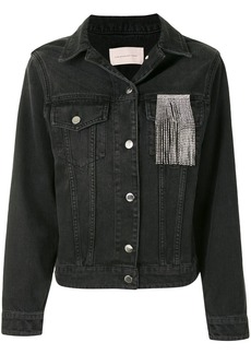 Christopher Kane crystal fringe denim jacket