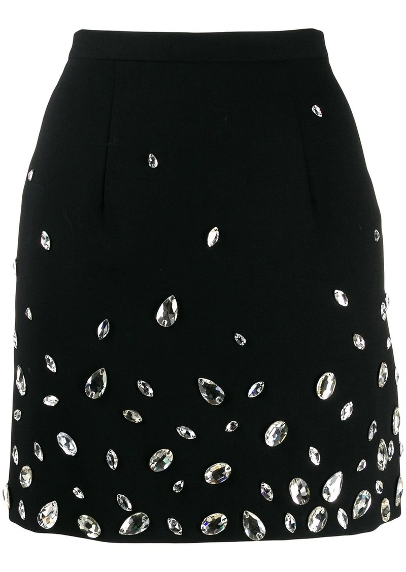 Christopher Kane crystal gem mini skirt