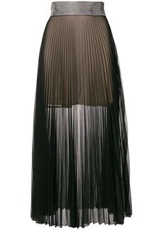 Christopher Kane crystal mesh pleated skirt