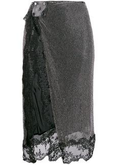 Christopher Kane crystal mesh skirt