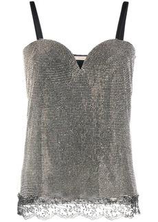 Christopher Kane crystal mesh sweetheart top