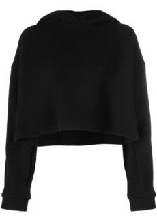 Christopher Kane crystal sleeve knitted hoodie