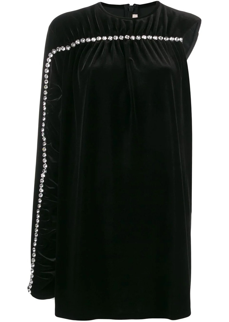 Christopher Kane crystal sleeve velvet dress