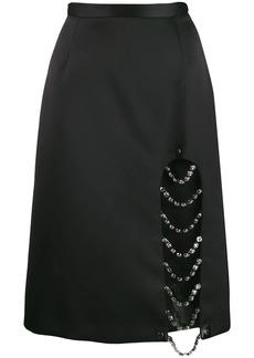 Christopher Kane crystal split skirt