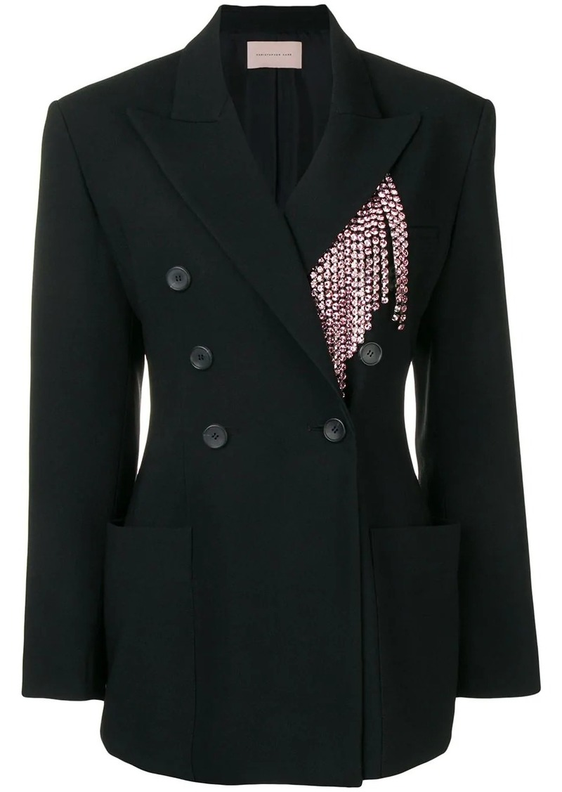 Christopher Kane crystal tailored jacket
