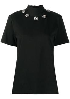 Christopher Kane crystal tie neck T-shirt