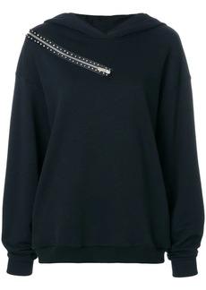 Christopher Kane crystal zip hoodie