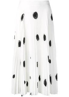 Christopher Kane dot print pleated skirt