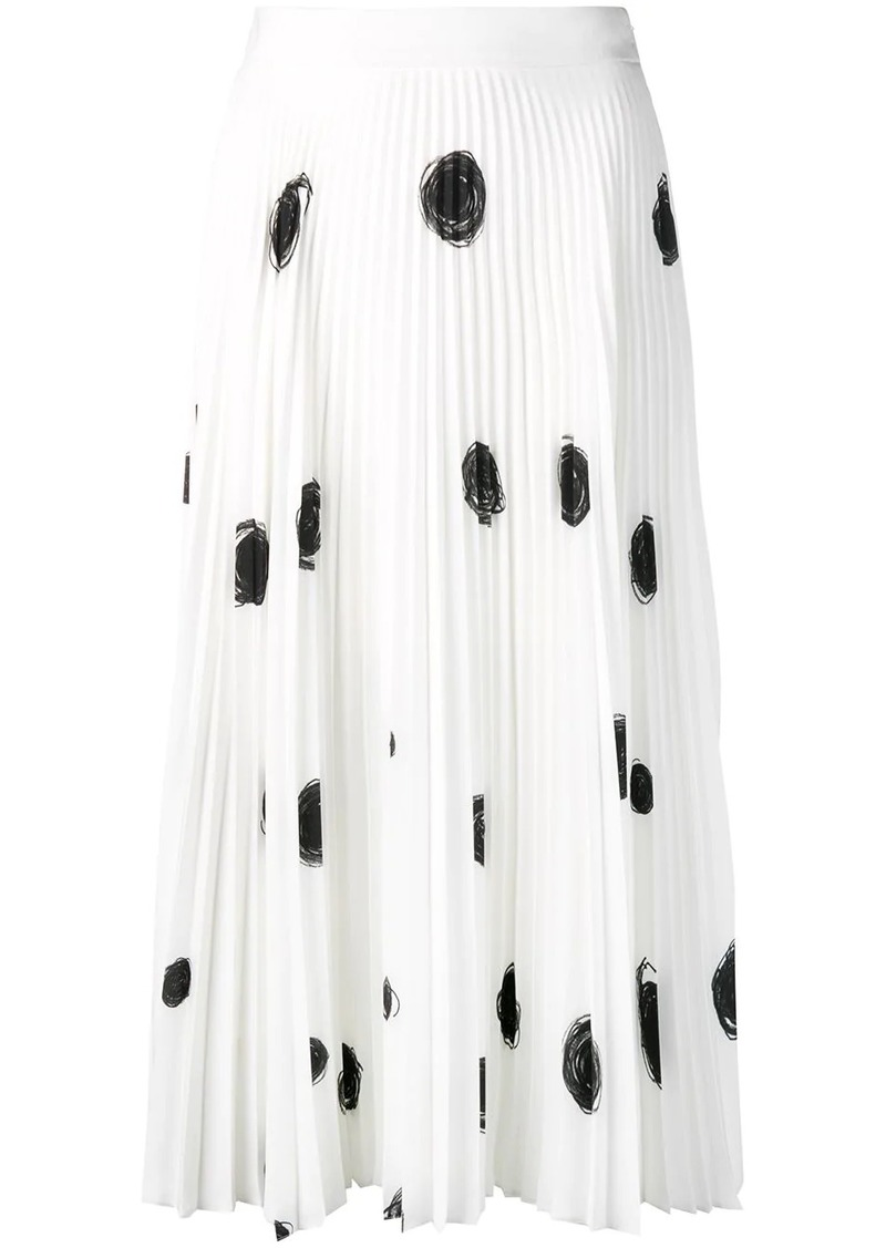 Christopher Kane dot print pleated skirt